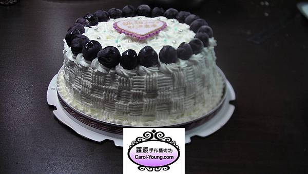 慧卿-鮮奶油拉花海綿蛋糕