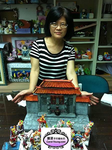 培訓學生王素慧-傳統Q版公仔捏塑課程-八家將-201304