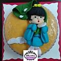 學生楊舒婷-人形蛋糕裝飾課程-好動女孩和夏日午後-20130522