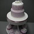 粉香蕾絲蛋糕組