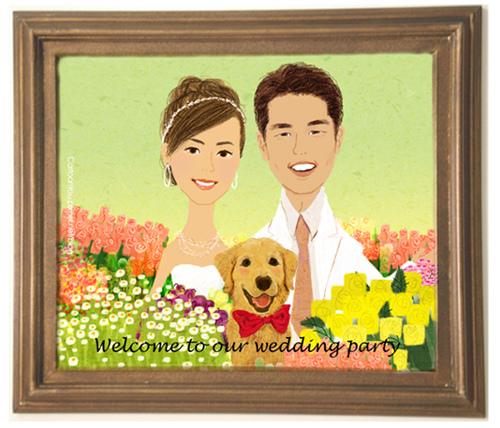 婚宴入口海報 2008
