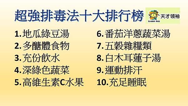 超級解毒法十大排行榜