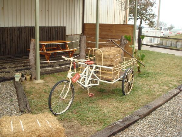 載牧草的三輪車