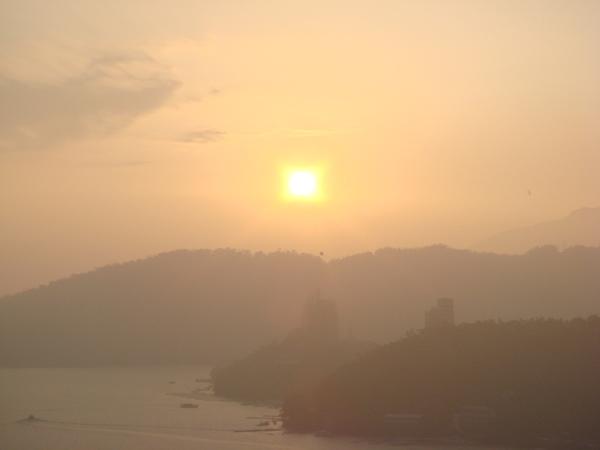 日月潭夕陽