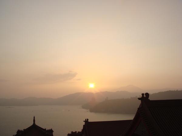 文武廟觀景台的夕陽