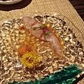 辣辣甜甜的生魚片