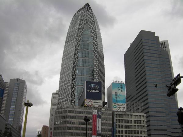 新宿車站一出站的光景