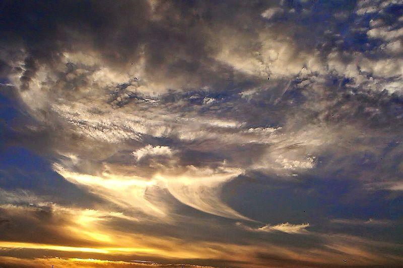 黃昏的天空景色