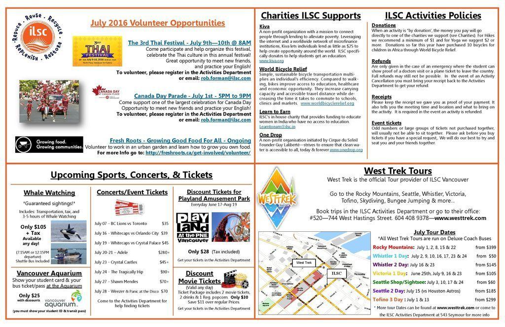 ILSC 2016 June Activity