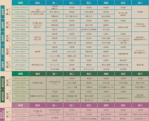 BUSP Schedule