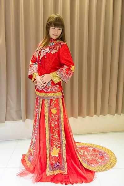 中式訂婚新娘禮服