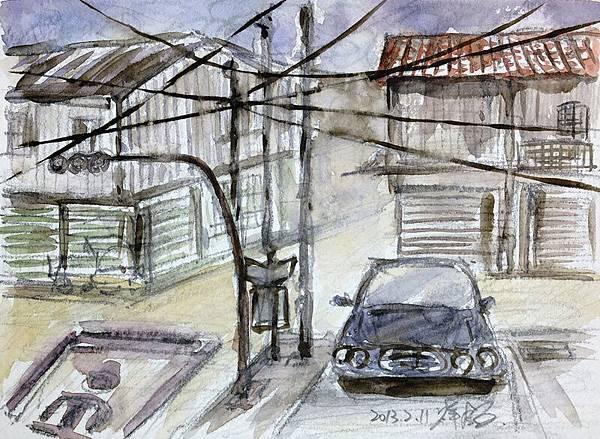 2013-02-11崙背小七前街景