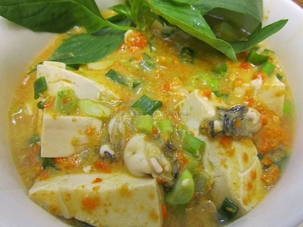 [螃蟹三吃]蟹黃鮮蚵豆腐 螃蟹料理 秋天螃蟹