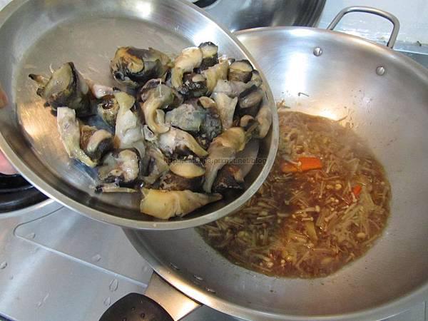 沙茶金針菇螺肉