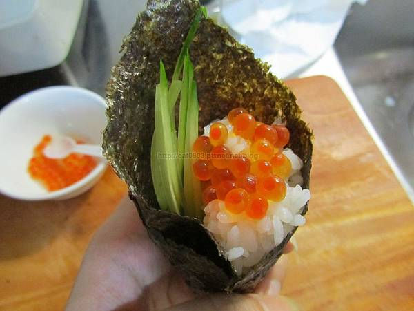 5分鐘料理-鮭魚卵手捲