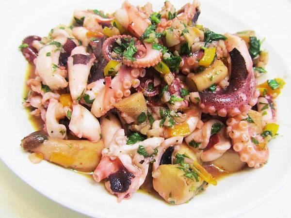 5分鐘料理-油漬杏鮑菇章魚(也可以當涼拌菜),新手料理, 懶人料理,臉黃黃太太, 食譜, 料理