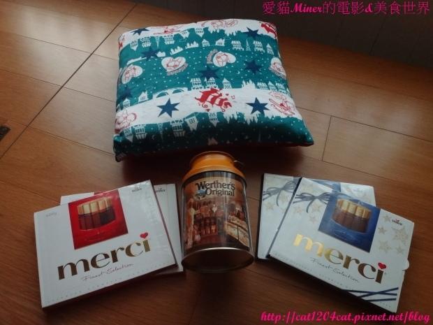 merci巧克力+贈品.JPG