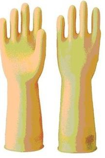 黃色橡膠手套