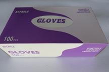9吋NBR紫色耐油拋棄型檢驗手套