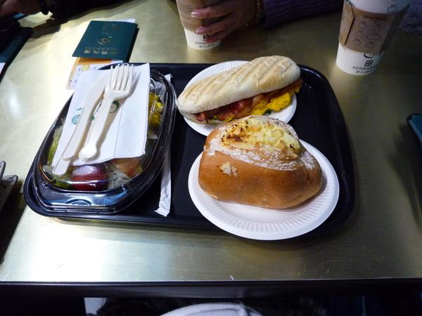 第二航廈的專利 星巴克早餐