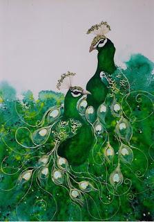 Lyn Butchart Green Peacock.jpg