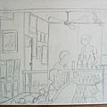 0624咖啡館小小寫生(未完成