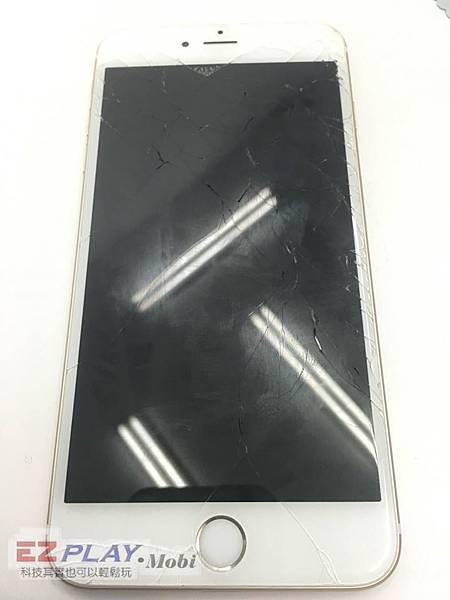 這台iphone6+面板破裂