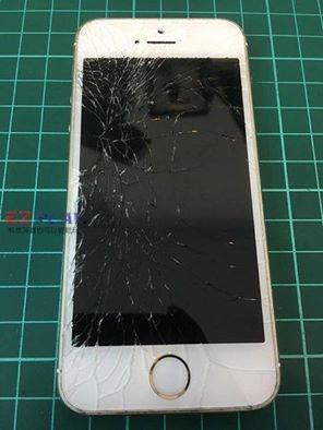 iphone5s面板破裂好心痛