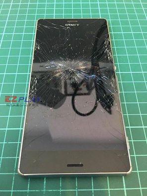 Sony Z3面板遭強烈撞擊n