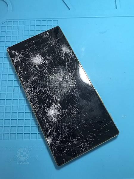 SONY Z5P面板重傷