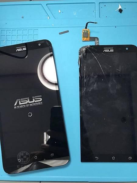 Zenfone 2 Z011D摔破面板