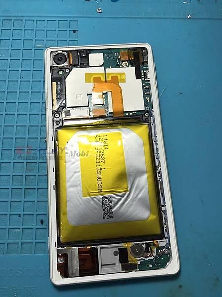 SONY Z2電池膨脹