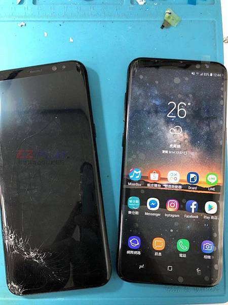 三星S8+更換面板