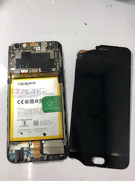 OPPO R9s+面板破裂