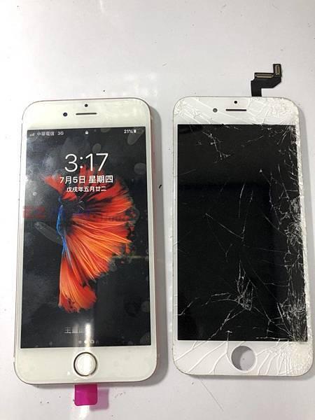 IPHONE6S面版摔很慘
