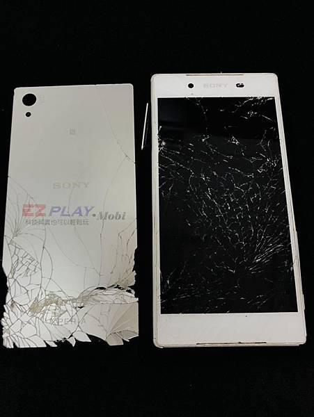 SONY Z5面板嚴重破裂