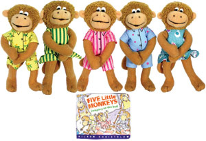 Five Little Monkeys Finger Puppets $955 有四組
