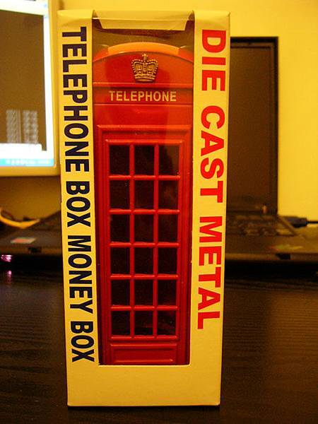 倫敦電話亭存錢筒