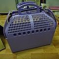 紫色提籠(狗)九成新