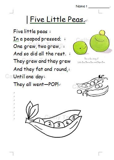 Five Little Peas Rhyme Worksheet.png