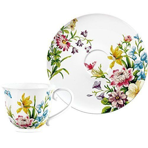 Creative Tops Katie Alice English Garden Cup and Saucer, Multi-Colour.JPG