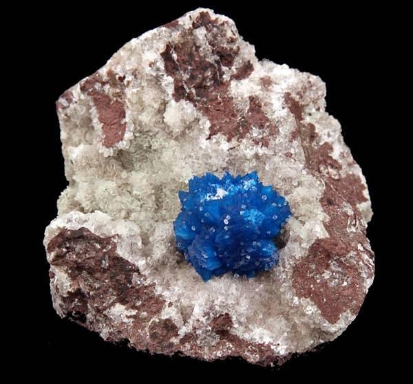 MESMERIZING BLUE CAVANSITE CRYSTAL ON HEULANDITE # 3431.jpg