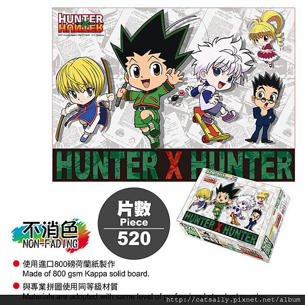 520片拼圖-Hunter A款