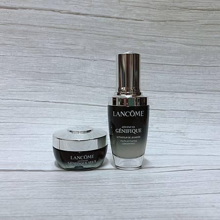 LANCÔME 升級版嫩肌活膚精華+升級版嫩肌活膚眼霜 維持肌膚微生態健康 ...