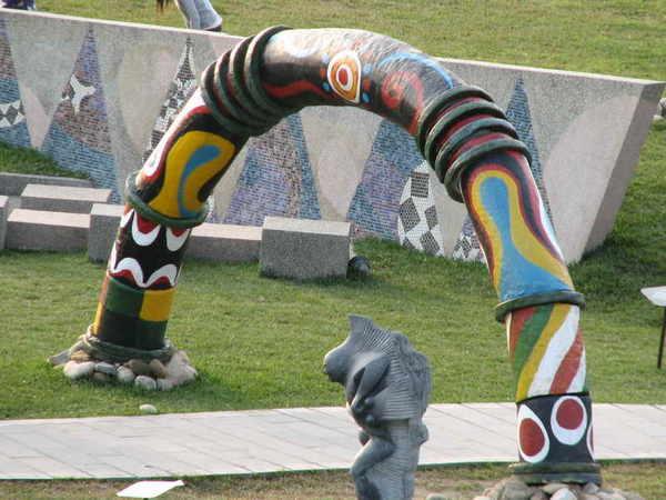 十三行公園的原住民雕飾