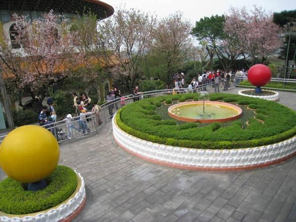 天元宮後方庭園, 從上面照