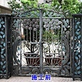 正邦鍛造鐵門整修實績:A社區側門(施工前)