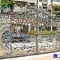 正邦鍛造鐵門整修實績:社區大門(施工前)