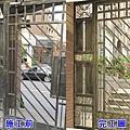 正邦鍛造鐵門整修翻新實績:社區大門前後對照