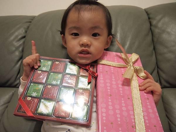 阿嬤還送我巧克力